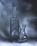 Obras de arte:  : Chile : Region_Metropolitana-Santiago : Peñalolen : Botellas en blanco y negro