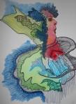 Obras de arte:  : España : Galicia_La_Coruña : Santiago_de_Compostela : 2018 Mujer 2
