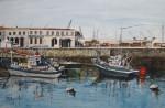 Obras de arte: Europa : España : Euskadi_Bizkaia : Bilbao : PESQUEROS EN PUERTO II