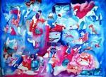 Obras de arte:  : Cuba : La_Habana :  : Locura azul