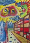 """Obras de arte: Europa : España : Catalunya_Barcelona :  : """"perspectiva envoltada d'especímens"""""""