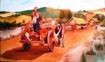 Obras de arte:  : Chile : Maule :  : mapuches en carreta