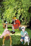 Obras de arte: Europa : España : Principado_de_Asturias : Gijón : niños en el jardin