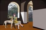 Obras de arte: Europa : España : Principado_de_Asturias : Gijón : señora con galgo