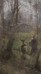 Obras de arte: America : Chile : Region_Metropolitana-Santiago : Santiago_de_Chile : Cabaña en el bosque