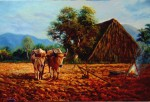 Obras de arte:  : Cuba : Las_Tunas : Tunas_ciudad : A la espera o amanecer en campo cubano
