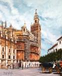 Obras de arte: Europa : España : Euskadi_Bizkaia : Bilbao : LA GIRALDA EN RESTAURACIÓN.
