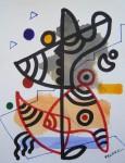 Obras de arte:  : España : Catalunya_Barcelona : Barcelona : IMPROVISACION(FORMA,LINEA Y COLOR)-4