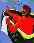 Obras de arte: Europa : Francia : Nord-Pas-de-Calais : LONGUENESSE : Homme à la baignoire 2014
