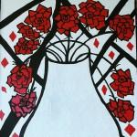 Obras de arte: America : Colombia : Distrito_Capital_de-Bogota : Bogota : florero de rosas