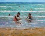 Obras de arte:  : España : Madrid : Miraflores_de_la_Sierra : Niños en la playa