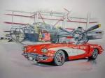 Obras de arte: America : Argentina : Buenos_Aires :  : B-25 and Corvette