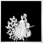 Obras de arte: Europa : España : Madrid : Madrid_ciudad : Música y mariposas