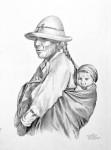 Obras de arte: America : Colombia : Santander_colombia : Bucaramanga : Madre campesina e hijo