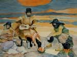 Obras de arte: America : Argentina : Buenos_Aires : Ciudad_de_Buenos_Aires : Martin Fierro con Guitarra y mate