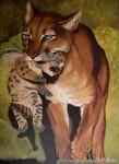 Obras de arte: America : Argentina : Buenos_Aires : Caballito : puma con cachorro