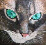 Obras de arte:  : Panamá : Panama-region : albrook : Gato marrón
