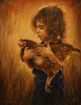 Obras de arte: America : Colombia : Antioquia : Medellin : La niña con la Gallina