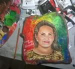 Obras de arte: America : Honduras : Francisco Morazan : Tegucigalpa : tributo a Geraldina Aguilar, pintora hondureña