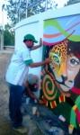 Obras de arte: America : Honduras : Francisco Morazan : Tegucigalpa : taller de muralismo Siguatepeque