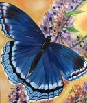 Obras de arte:  : Panamá : Panama-region : albrook : Mariposa azul