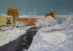 Obras de arte: Europa : España : Castilla_y_León_Burgos : burgos : Covarrubias nevado