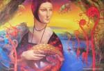 Obras de arte: America : Argentina : Buenos_Aires : Villa_Elisa : La dama del palgolín