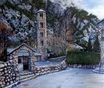 Obras de arte:  : Espa�a : Catalunya_Barcelona :  : Sta. Coloma nevat