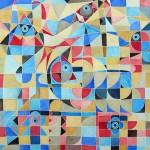 Obras de arte: Europa : Francia : Rhone-Alpes : Lyon : Celestial - acuarela abstracta