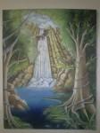 Obras de arte:  : M�xico : Michoacan_de_Ocampo :  : Cascada.