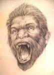 Obras de arte: Europa : España : Canarias_Santa_Cruz_de_Tenerife : Santa_Cruz_Tenerife : autoretrato con gorila