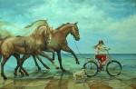 Obras de arte: Europa : España : Valencia : valencia_ciudad : En la playa - Chelin Sanjuan