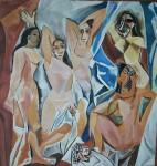 Obras de arte: America : Argentina : Buenos_Aires : Caballito : Las Señoritas de Avignon