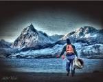 Obras de arte: America : Argentina : Tierra_del_Fuego : Ushuaia : Hacia lo desconocido