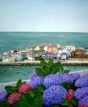 Obras de arte: Europa : España : Galicia_La_Coruña : Coruna : Terraza imaginaria con flores (Cayón)
