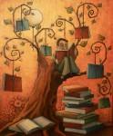 Obras de arte: Europa : España : Andalucía_Sevilla : Sevilla-ciudad : Con la ayuda de sus libros llegó a lo más alto