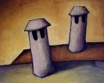 Obras de arte: Europa : España : Andalucía_Sevilla : Sevilla-ciudad : Diciembre amarillo para dos chimeneas