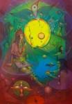 Obras de arte: America : Venezuela : Carabobo : Miranda_pueblo : muchacha con cocodrilo en perla