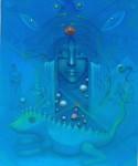 Obras de arte: America : Venezuela : Carabobo : Miranda_pueblo : enigmatico azul