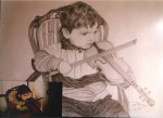 Obras de arte: Europa : España : Comunidad_Valenciana_Castellón : Soneja : PEQUEÑO ACORDEONISTA