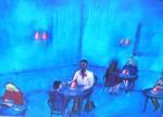 Obras de arte: Europa : España : Euskadi_Bizkaia : Bilbao-ciudad : Blue Cafe 87x62cm 1997