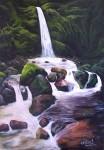 Obras de arte: America : México : Morelos : cuernavaca : Cascada Tepóztlan