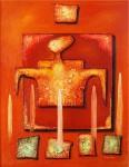 Obras de arte: America : Ecuador : Tungurahua : Ambato : ¨EL EMPERADOR¨de la Serte ¨El Tarot, los Arcanos Mayores