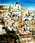 Obras de arte: Europa : España : Catalunya_Barcelona : Barcelona_ciudad : Isla de Santorini (Grecia)