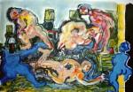 Obras de arte: Europa : Francia : Nord-Pas-de-Calais : LONGUENESSE : Personnages et lampes