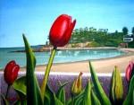 Obras de arte: Europa : España : Galicia_La_Coruña : Coruna : Terraza imaginaria con flores4(Perbes)
