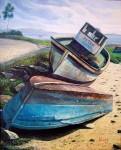 Obras de arte: Europa : España : Galicia_Pontevedra : Cambados : Barcos do Facho