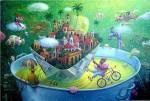 Obras de arte: America : Cuba : La_Habana : Vedado : el centro del mundo