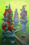 Obras de arte: America : Cuba : La_Habana : Vedado : el puerto de las casas varadas