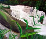 Obras de arte: Asia : Israel : Haifa : NEWE_SHAANAN : WATERFALL OF PEDRA BRANCA